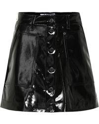 Proenza Schouler Mini-jupe PSWL en vinyle - Noir