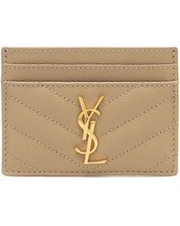 Saint Laurent Monogram Leather Card Holder - Multicolour