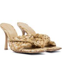 Bottega Veneta Stretch Raffia Sandals - Multicolour