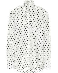 Plan C Bluse aus Baumwolle mit Polka-Dots - Mehrfarbig