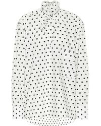 Plan C Polka-dot Cotton Blouse - Multicolour