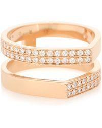 Repossi Antifer 18kt Rose-gold And Diamond Ring - Metallic