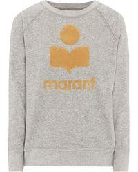 Étoile Isabel Marant Sweatshirt Milly aus Jersey - Grau
