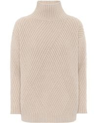 Agnona Cashmere-blend Turtleneck Sweater - Natural