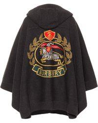 Burberry - Capa en mezcla de lana de jacquard - Lyst