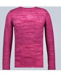 The Elder Statesman Kaschmirpullover Picasso - Pink