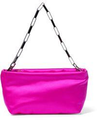 The Attico - Wynona Mini Satin Shoulder Bag - Lyst