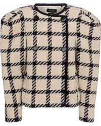 Isabel Marant Veste Kingy en laine mélangée à carreaux - Multicolore