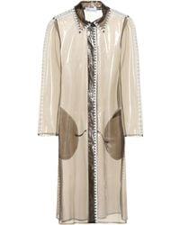 RED Valentino Semi-transparent Raincoat - Brown