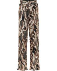 Dries Van Noten Sequined High-rise Straight Pants - Metallic