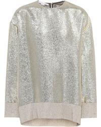 Stella McCartney Blusa de Lurex® en color metálico