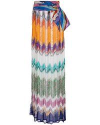 Missoni Maxirock aus Häkelstrick - Mehrfarbig