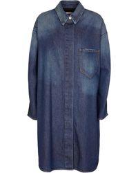 MM6 by Maison Martin Margiela Robe chemise en jean - Bleu