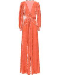 Bottega Veneta - Velvet Gown - Lyst