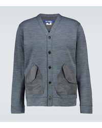 Junya Watanabe Cotton-blend Cardigan - Gray