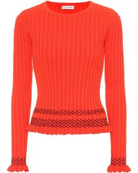 Altuzarra - Malou Embroidered Ribbed-knit Sweater - Lyst