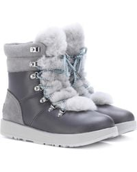 8adcec47d3a Viki Waterproof Leather Ankle Boots - Gray