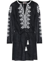 Tory Burch Robe courte à broderies - Noir
