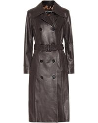 Dolce & Gabbana Belted Leather Coat - Multicolor