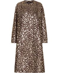 Rochas Oxford Leopard Brocade Coat