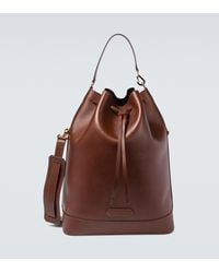 Tom Ford Drawstring Leather Bucket Bag - Brown