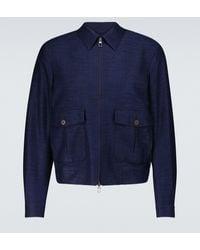 Lardini Blouson aus Baumwolle und Wolle - Blau