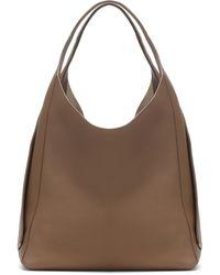Loro Piana Leather Shoulder Bag - Brown