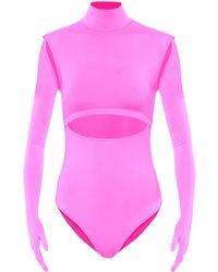 Vetements Body aus Jersey - Pink