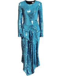 Preen By Thornton Bregazzi Vestido Valena con lentejuelas - Azul