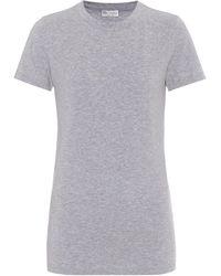 Brunello Cucinelli T-Shirt aus Baumwoll-Jersey - Grau
