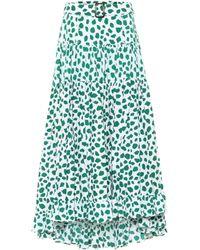 Alexandra Miro Exclusivo en Mytheresa – falda larga Penelope de algodón con estampado de leopardo - Verde