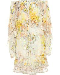 Camilla Embellished Floral Silk Minidress - Multicolour
