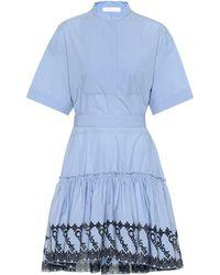 Chloé - Vestido de popelín de algodón - Lyst