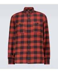 RRL Camisa Farrell de cuadros - Rojo