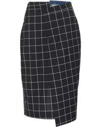 Monse Denim-panel pencil skirt - Azul