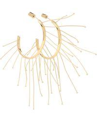Jil Sander Multi Lines Hoop Earrings - Metallic