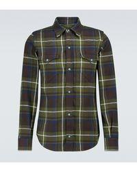 Alanui Checked Cotton Shirt - Green