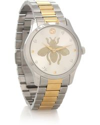 Gucci Ya1264131 Unisex G-timeless Bracelet Strap Watch - Metallic