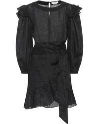Étoile Isabel Marant Robe Telicia en lin - Noir