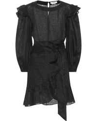 Étoile Isabel Marant Telicia Linen Dress - Black