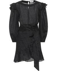 Étoile Isabel Marant Vestido Telicia de lino - Negro