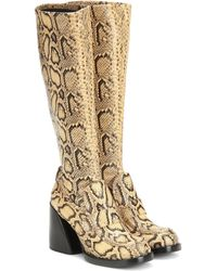 Chloé Adelie Snake-effect Leather Boots - Multicolor