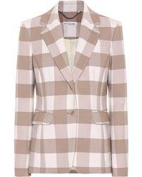 Altuzarra Fenice Checked Stretch Wool Blazer - Multicolour