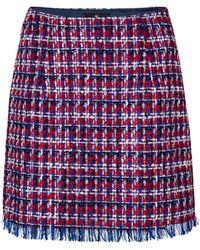 Etro Tweed Miniskirt - Blue