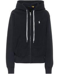 Polo Ralph Lauren Logo Cotton-blend Hoodie - Black