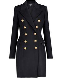 Balmain Mantel aus Wolle und Kaschmir - Schwarz