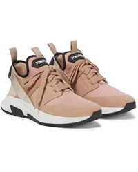 Tom Ford Sneakers in mesh - Neutro