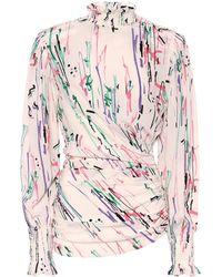 Isabel Marant Fantine Printed Stretch-silk Blouse - Multicolor
