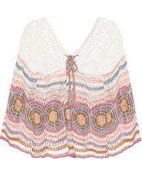 Anna Kosturova Top de algodón Carly a croché - Multicolor