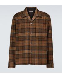 Our Legacy Camicia Heusen a quadri in lana - Marrone